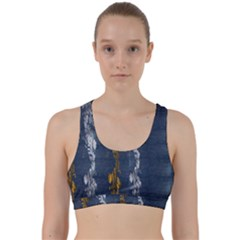 Gold And Silver Blue Jean Look By Flipstylez Designs Back Weave Sports Bra by flipstylezdes