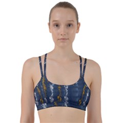 Gold And Silver Blue Jean Look By Flipstylez Designs Line Them Up Sports Bra by flipstylezdes