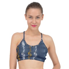Gold And Silver Blue Jean Look By Flipstylez Designs Basic Training Sports Bra by flipstylezdes