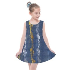 Gold And Silver Blue Jean Look By Flipstylez Designs Kids  Summer Dress by flipstylezdes