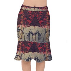 Red And Black Leather Red And Gold Lace Design By Flipstylez Designs Mermaid Skirt