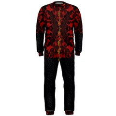 Red And Black Leather Red Lace Design By Flipstylez Designs Onepiece Jumpsuit (men)