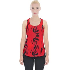 Red And Black Design By Flipstylez Designs Piece Up Tank Top