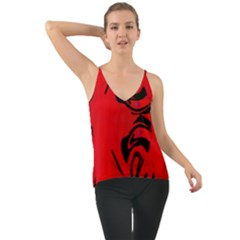 Red And Black Design By Flipstylez Designs Chiffon Cami