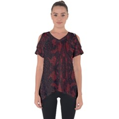 Black Lace Burgundy Design By Flipstylez Designs Cut Out Side Drop Tee