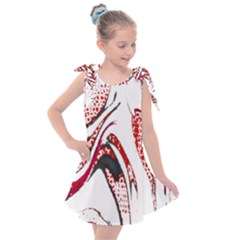 Pink And Black Swirl By Flipstylez Designs Kids  Tie Up Tunic Dress