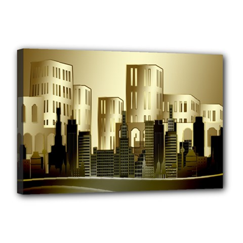 Architecture City House Canvas 18  X 12  (stretched)