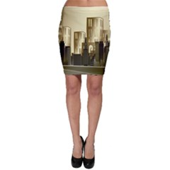 Architecture City House Bodycon Skirt