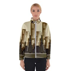Architecture City House Winter Jacket