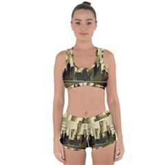 Architecture City House Racerback Boyleg Bikini Set