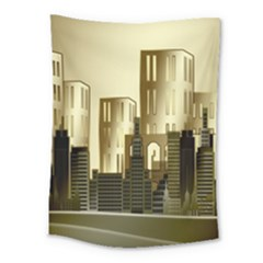 Architecture City House Medium Tapestry