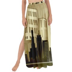 Architecture City House Maxi Chiffon Tie Up Sarong