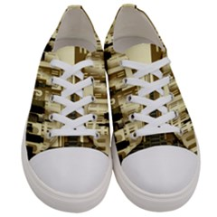 Architecture City House Women s Low Top Canvas Sneakers