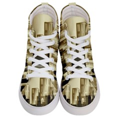 Architecture City House Women s Hi Top Skate Sneakers