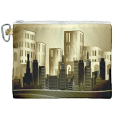 Architecture City House Canvas Cosmetic Bag (xxl)