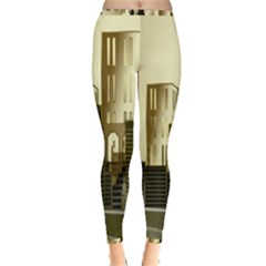Architecture City House Inside Out Leggings