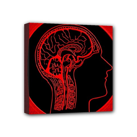Artificial Intelligence Brain Think Mini Canvas 4  X 4  (stretched)