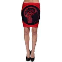 Artificial Intelligence Brain Think Bodycon Skirt
