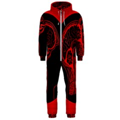 Artificial Intelligence Brain Think Hooded Jumpsuit (men)