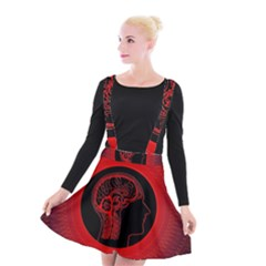 Artificial Intelligence Brain Think Suspender Skater Skirt