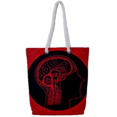 Artificial Intelligence Brain Think Full Print Rope Handle Tote (small) by Samandel