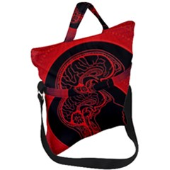 Artificial Intelligence Brain Think Fold Over Handle Tote Bag