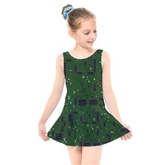 Board Conductors Circuits Kids  Skater Dress Swimsuit