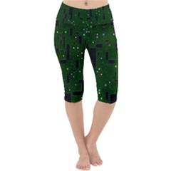 Board Conductors Circuits Lightweight Velour Cropped Yoga Leggings