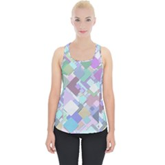 Colorful Background Multicolored Piece Up Tank Top