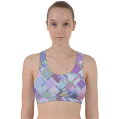 Colorful Background Multicolored Back Weave Sports Bra