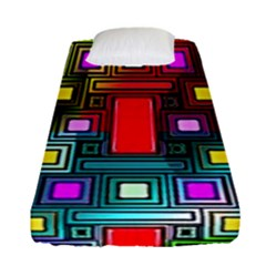 Art Rectangles Abstract Modern Art Fitted Sheet (single Size)