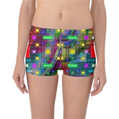 Art Rectangles Abstract Modern Art Boyleg Bikini Bottoms