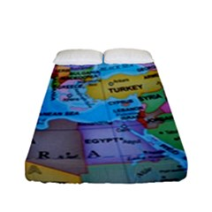 Globe World Map Maps Europe Fitted Sheet (full/ Double Size) by Samandel