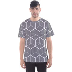 Cube Pattern Cube Seamless Repeat Men s Sports Mesh Tee