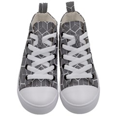 Cube Pattern Cube Seamless Repeat Kid s Mid Top Canvas Sneakers