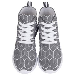 Cube Pattern Cube Seamless Repeat Women s Lightweight High Top Sneakers by Samandel