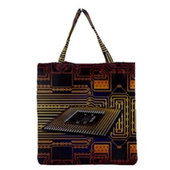Processor Cpu Board Circuits Grocery Tote Bag
