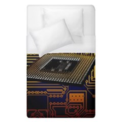 Processor Cpu Board Circuits Duvet Cover (single Size)