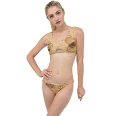 Map Discovery America Ship Train The Little Details Bikini Set