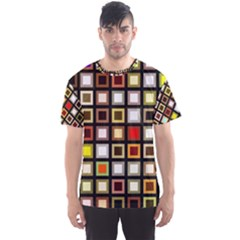 Squares Colorful Texture Modern Art Men s Sports Mesh Tee