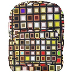 Squares Colorful Texture Modern Art Full Print Backpack