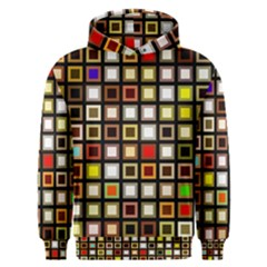 Squares Colorful Texture Modern Art Men s Overhead Hoodie