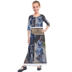 Bicycle 1763283 1280 Kids  Quarter Sleeve Maxi Dress by vintage2030