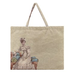 Background 1775324 1920 Zipper Large Tote Bag by vintage2030
