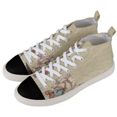 Background 1775324 1920 Men s Mid Top Canvas Sneakers by vintage2030