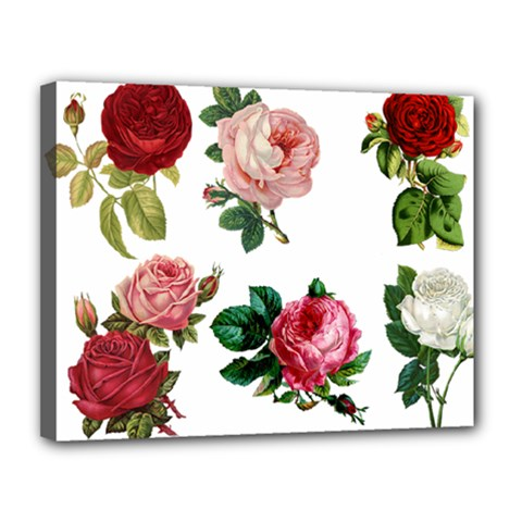 Roses 1770165 1920 Canvas 14  X 11  (stretched) by vintage2030