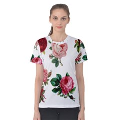 Roses 1770165 1920 Women s Cotton Tee by vintage2030