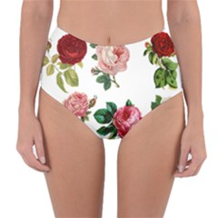 Roses 1770165 1920 Reversible High Waist Bikini Bottoms by vintage2030