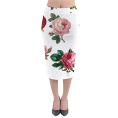 Roses 1770165 1920 Midi Pencil Skirt by vintage2030