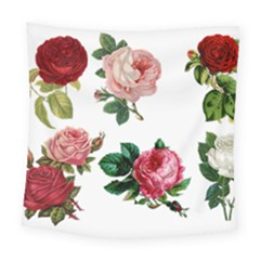 Roses 1770165 1920 Square Tapestry (large) by vintage2030